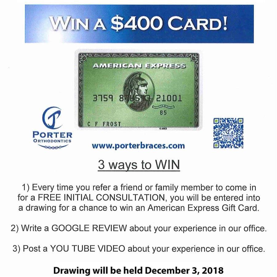 Porter Orthodontics Refer a Friend Contest 2018 Baton Rouge Orthodontist